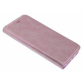 Merkloos Luxe Rose Goud TPU / PU Leder Flip Cover met Magneetsluiting voor iPhone Xs Max