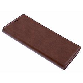 Merkloos Luxe Bruin TPU / PU Leder Flip Cover met Magneetsluiting voor iPhone Xr