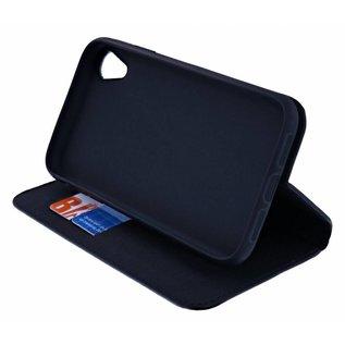 Ntech Ntech Luxe Zwart TPU / PU Leder Flip Cover met Magneetsluiting voor iPhone Xr