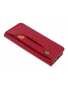 Merkloos iPhone Xr Flip Cover met Magneetsluiting en Uitschuifbare Kaartenhouder Rood