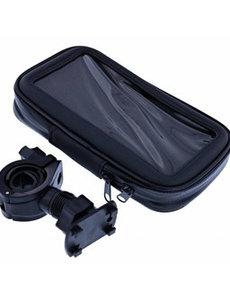 Merkloos Zwart Fiets Houder Universeel Waterdicht & Shockproof Large Hoesje voor iPhone Xr