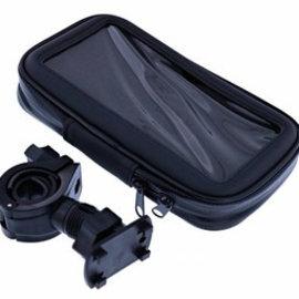 Ntech Ntech Zwart Fiets Houder Universeel Waterdicht & Shockproof Large Hoesje voor iPhone Xr