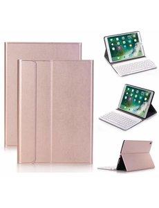Merkloos Rose Goud Magnetically Detachable / Wireless Bluetooth Keyboard hoesje met toetsenbord voor Apple iPad (2018) / Air 1 / 2 / iPad Pro 9.7 inch / iPad 2017