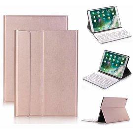 Merkloos Rose Goud Magnetically Detachable / Wireless Bluetooth Keyboard hoes met toetsenbord voor Apple iPad (2018) / Air 1 / 2 / iPad Pro 9.7 inch / iPad 2017