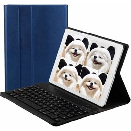 Merkloos Blauw Magnetically Detachable / Wireless Bluetooth Keyboard hoes met toetsenbord voor Apple iPad (2018) / Air 1 / 2 / iPad Pro 9.7 inch / iPad 2017