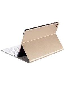 Merkloos Goud Magnetically Detachable / Wireless Bluetooth Keyboard hoesje met toetsenbord voor Apple iPad (2018) / Air 1 / 2 / iPad Pro 9.7 inch / iPad 2017
