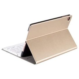 Ntech Goud Magnetically Detachable / Wireless Bluetooth Keyboard hoes met toetsenbord voor Apple iPad (2018) / Air 1 / 2 / iPad Pro 9.7 inch / iPad 2017