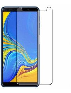 Merkloos Samsung Galaxy A7 (2018) Tempered glass /Beschermglas Screenprotector