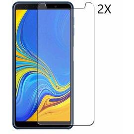Merkloos 2 Pack Samsung Galaxy A7 (2018) Tempered glass /Beschermglas Screen Protector