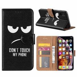 Ntech Ntech iPhone Xs Max Quote & Print Design Boek Hoesje Met Pasjesruimte & Magneet flapje