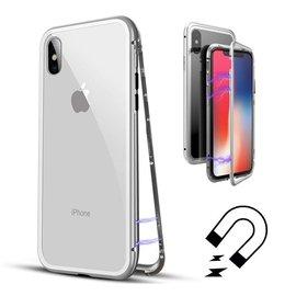 Merkloos Magnetisch iPhone X/Xs hoesje - ZILVER - voor iPhone X/Xs