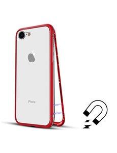 Merkloos Magnetisch iPhone 8+ / 7+ hoesje - ROOD - voor iPhone 8+ / 7+ (plus versie)
