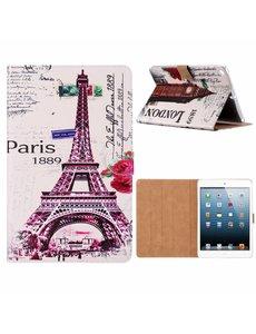 Merkloos iPad 9.7 inch (2018) / (2017) Eiffeltoren 1889 Design Booktype Kunstleer Hoesje