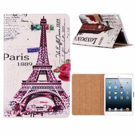 Ntech Ntech iPad 9.7 inch (2018) / (2017) Eiffeltoren 1889 Design Booktype Kunstleer Hoesje Met Pasjesruimte