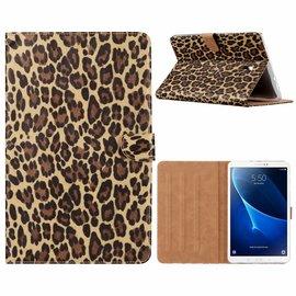 """Merkloos Samsung Galaxy Tab A 10.5"""" SM T590 / T595 2018 Luipaard  Design Booktype Kunstleer Hoesje"""