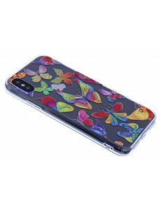 Merkloos iPhone X / Xs 3D Butterfly Design backcover Hoesje