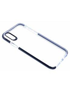Merkloos iPhone Xr Transparant Back Anti Drop TPU Hoesje Zwart