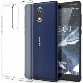Merkloos Nokia 5.1Transparant lichte TPU ultra clear Hoesje