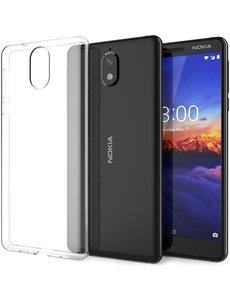 Merkloos Nokia 3.1 Transparant lichte TPU ultra clear Hoesje