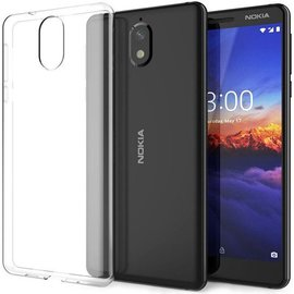 Merkloos Nokia 3.1 Transparant lichte TPU ultra clear Hoesje