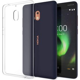 Merkloos Nokia 2.1 Transparant lichte TPU ultra clear Hoesje