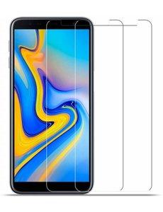 Merkloos 2X/2Pack Samsung Galaxy J4+ (Plus) 2018 Beschermglas Screenprotector / Tempered Glass Screen
