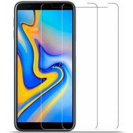 Merkloos 2X/2Pack Samsung Galaxy J4+ (Plus) 2018 Beschermglas Screen Protector / Tempered Glass Screen
