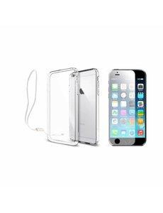 Xundd Xundd iPhone 8 / 7 Transparant lichte TPU Hoesje met pols lusje & tempered glass