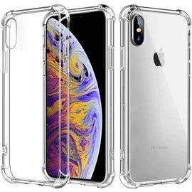 Merkloos Shock Proof case met TPU Soft Frame hoesje voor iPhone Xs Max Transparant Doorzichtig