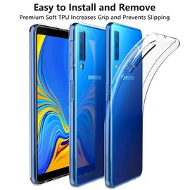 Merkloos Samsung Galaxy A7 (2018) Scratch Resistant Transparant Case Durable Flexible Clear TPU Hoesje