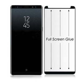 Merkloos Samsung Galaxy Note 9 Full Glue Screen protector Adhesive Cover tempered glass Zwart