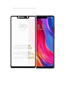 Merkloos Huawei Mate 20 lite full cover Screenprotector Tempered Glass Zwart