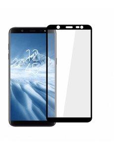 Merkloos Samsung Galaxy J6 2018 full cover Screenprotector Tempered Glass Zwart