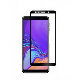 Merkloos Samsung Galaxy A7 2018 full cover Screen Protector-9H HD clarity Hardness Tempered Glass Zwart