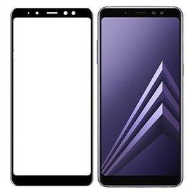 Merkloos Samsung Galaxy A7 2018 Full Glue Screen protector Adhesive Cover tempered glass Zwart