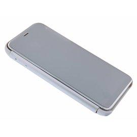 Merkloos Samsung Galaxy J4+ Plus 2018 Zilver LED Flip Cover Hoesje