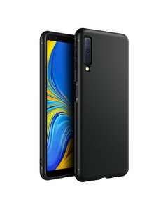 Merkloos Samsung Galaxy A7 2018 Zwart TPU Silicone Hoesje