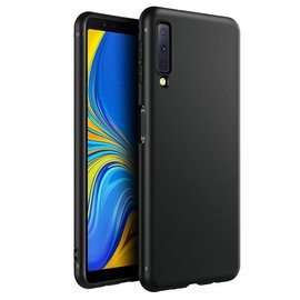 Ntech Samsung Galaxy A7 2018 Zwart TPU Silicone Hoesje
