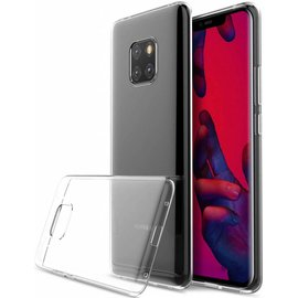 Merkloos Huawei Mate 20 Pro Transparant Hoesje Durable Flexible & Scratch Resistent Clear TPU Case