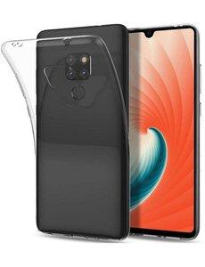 Merkloos Huawei Mate 20 Transparant TPU Back hoesje