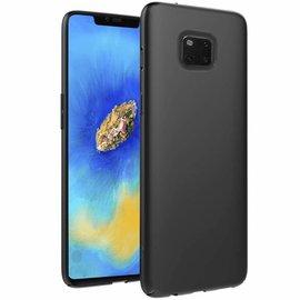 Merkloos Huawei Mate 20 Pro Zwart TPU Silicone Hoesje