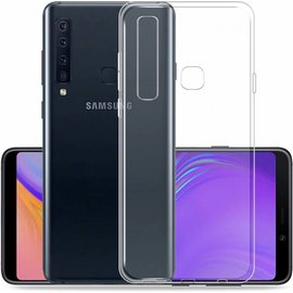 Merkloos Samsung Galaxy A9 2018 Transparant Hoesje Durable Flexible & Scratch Resistent Clear TPU Case