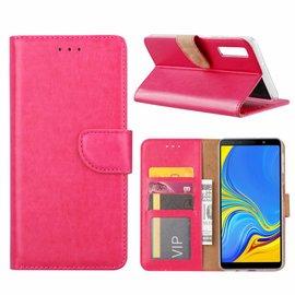Merkloos Samsung Galaxy A9 2018 Roze Booktype / Portemonnee TPU Lederen Hoesje