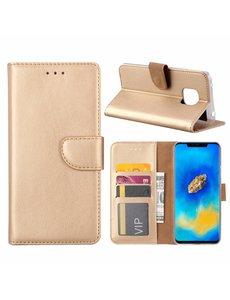 Merkloos Huawei Mate 20 Pro Goud Booktype / Portemonnee TPU Lederen Hoesje