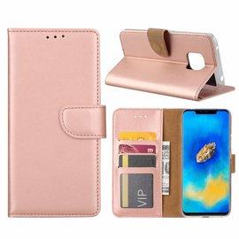 Merkloos Huawei Mate 20 Pro Rose Goud Booktype / Portemonnee TPU Lederen Hoesje