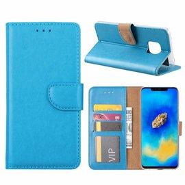 Merkloos Huawei Mate 20 Pro Blauw Booktype / Portemonnee TPU Lederen Hoesje