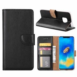 Merkloos Huawei Mate 20 Pro Zwart Booktype / Portemonnee TPU Lederen Hoesje
