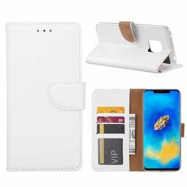 Merkloos Huawei Mate 20 Pro Wit Booktype / Portemonnee TPU Lederen Hoesje