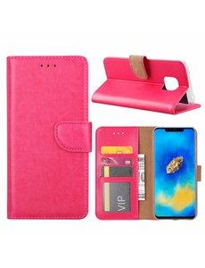 Merkloos Huawei Mate 20 Pro Roze Booktype / Portemonnee TPU Lederen Hoesje