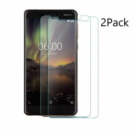 Merkloos 2Pack Nokia 6.1 Plus Screen Protector-9H HD clarity Hardness Tempered Glass